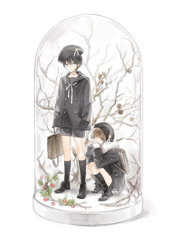Tags: Anime, Pixiv Id 3503358, Free!, Nanase Haruka (Free!), Tachibana Makoto, Snow Globe, Fanart From Pixiv, Pixiv, Fanart
