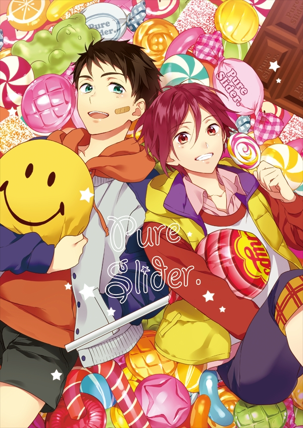 Tags: Anime, Matsuo Shin, Free!, Yamazaki Sosuke, Matsuoka Rin, Fanart From Pixiv, Mobile Wallpaper, Pixiv, Fanart