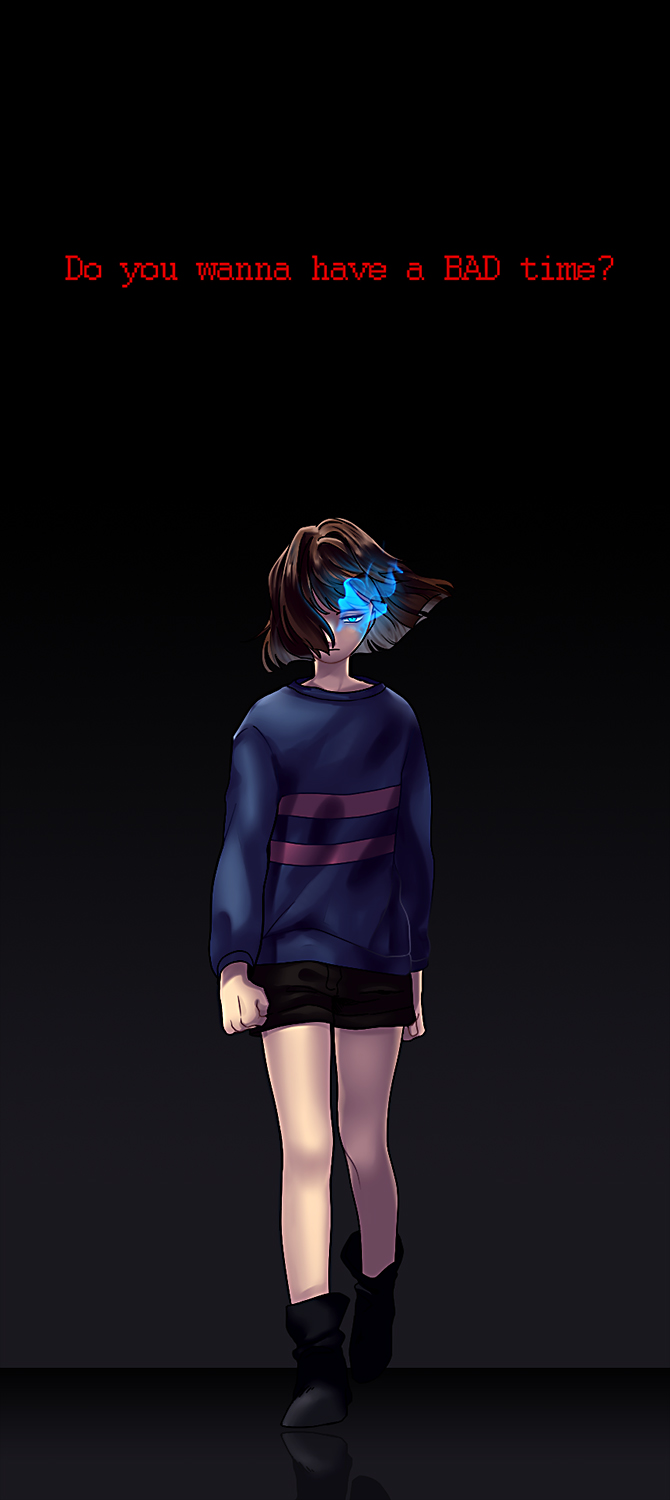 Tags: Anime, Pixiv Id 590118, Undertale, Frisk, Striped Outerwear, Pageboy Haircut, Striped Sweater, Fanart, Fanart From Pixiv, PNG Conversion, Pixiv