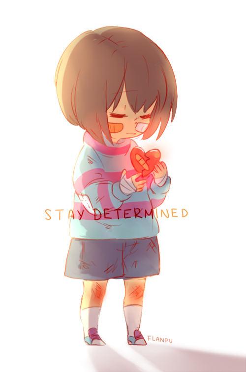 Tags: Anime, flanpu, Undertale, Frisk, Striped Sweater, Striped Outerwear, Bruise, Bandaged Cheek, deviantART, Fanart, Fanart From DeviantART, PNG Conversion, Mobile Wallpaper