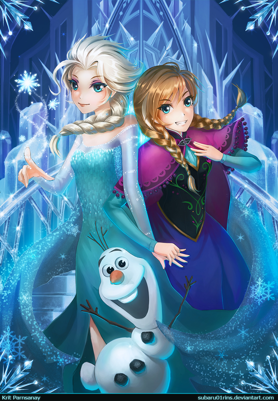 Anna and Elsa Disney Frozen Olaf