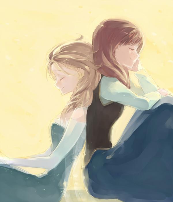 Tags: Anime, sou (Pixiv2760884), Frozen (Disney), Princess Anna of Arendelle, Elsa the Snow Queen, 600x700 Wallpaper, Fanart From Pixiv, Disney, Pixiv, Fanart