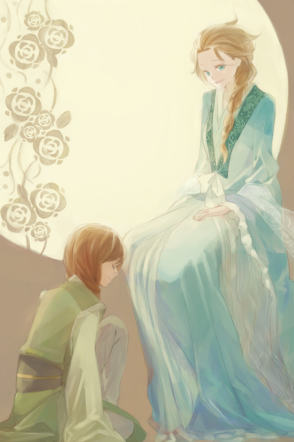 Tags: Anime, sou (Pixiv2760884), Frozen (Disney), Princess Anna of Arendelle, Elsa the Snow Queen, Fanart, Fanart From Pixiv, Disney, Pixiv