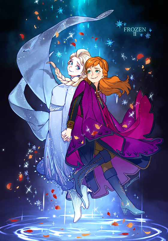 Tags: Anime, Pixiv Id 16646417, Frozen (Disney), Princess Anna of Arendelle, Elsa the Snow Queen, Fanart From Pixiv, Disney, Pixiv, Fanart