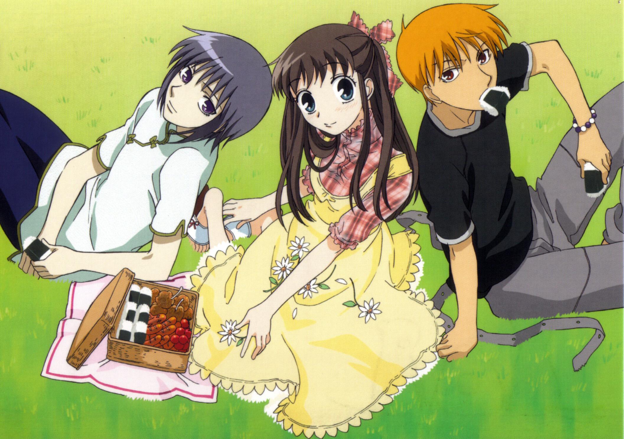 Resultado de imagen de fruit basket kyo y yuki y tohru