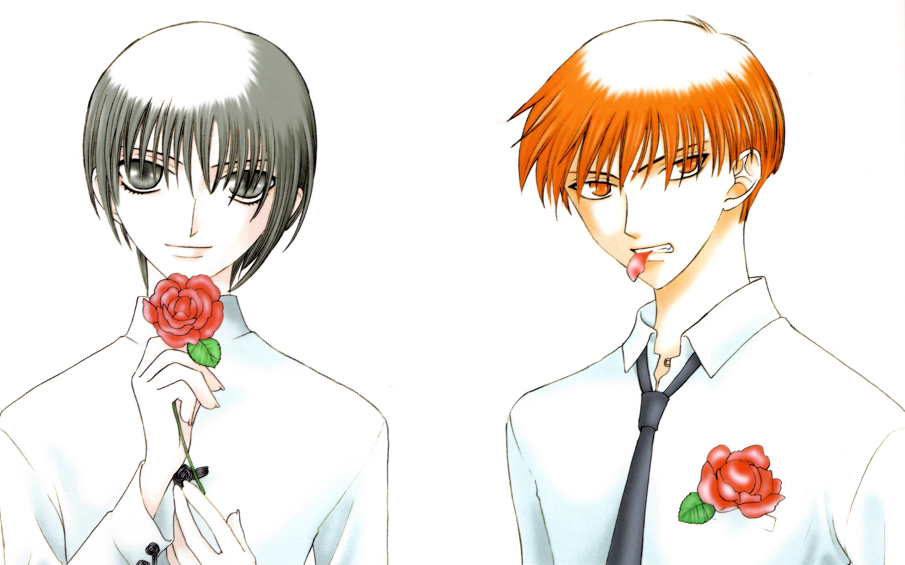 Fruit Basket Anime Kyo And Tohru Kiss
