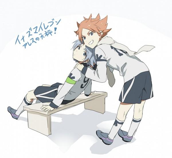 Tags: Anime, Catgirl0926 (Artist), Inazuma Eleven: Ares no Tenbin, Inazuma Eleven, Fubuki Atsuya, Fubuki Shirou, Hakuren (Ares) Uniform
