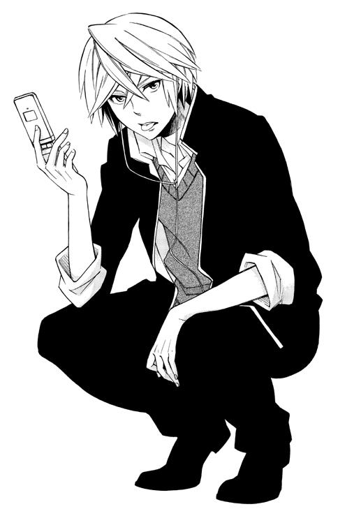 Tags: Anime, Matsumoto Azusa, Hokenshitsu no Shinigami, Fuji Rokusuke, Mobile Wallpaper