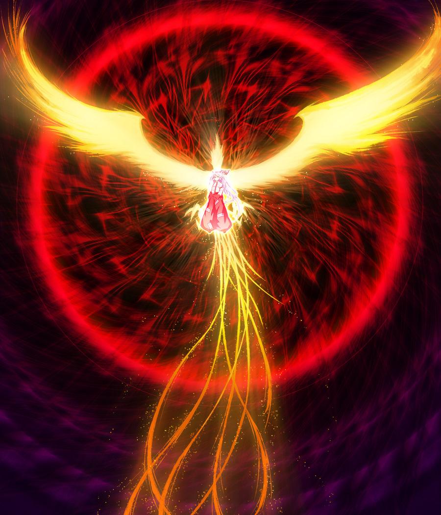 fujiwara no mokou phoenix zerochan anime image board