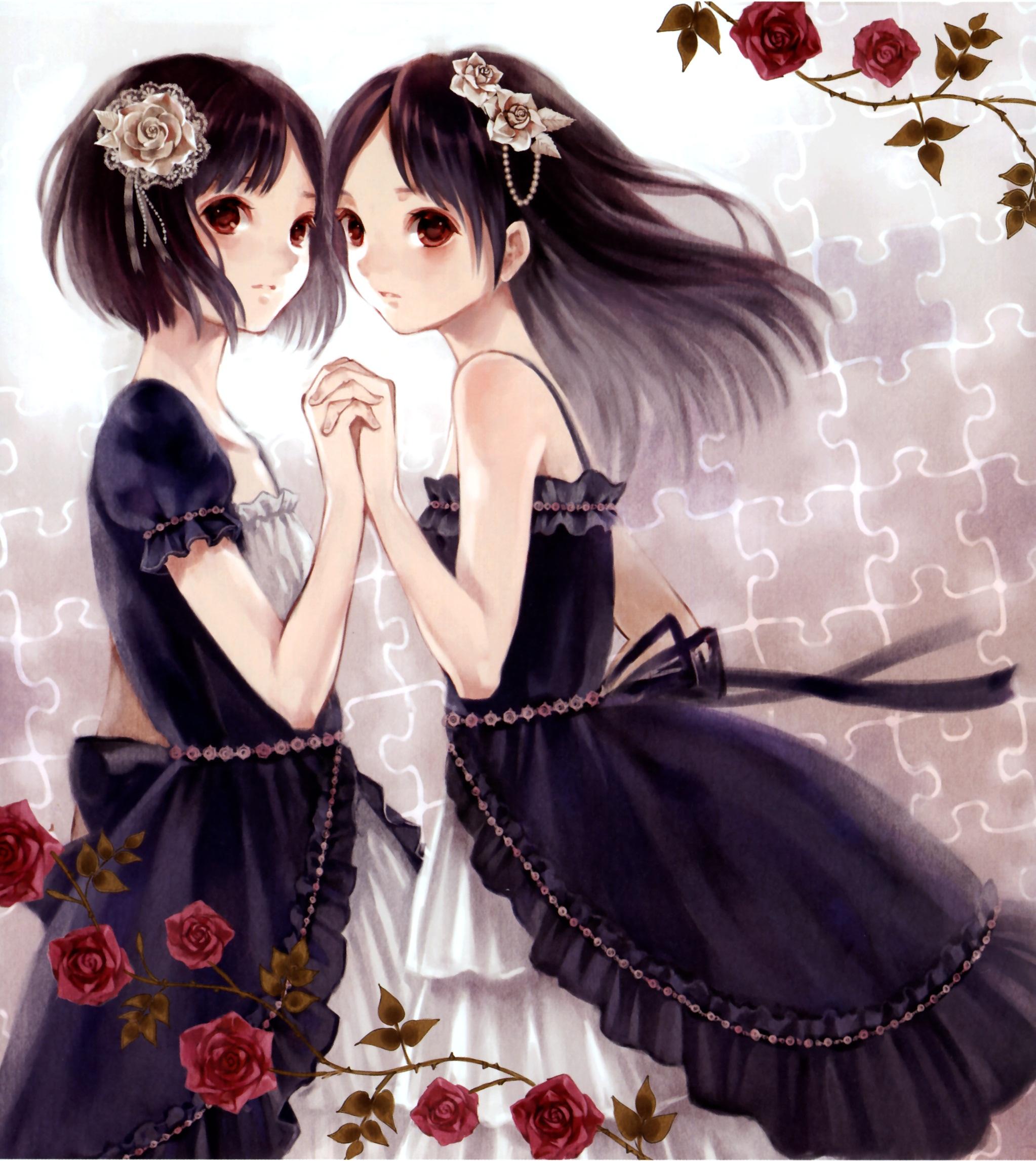 Two anime girls