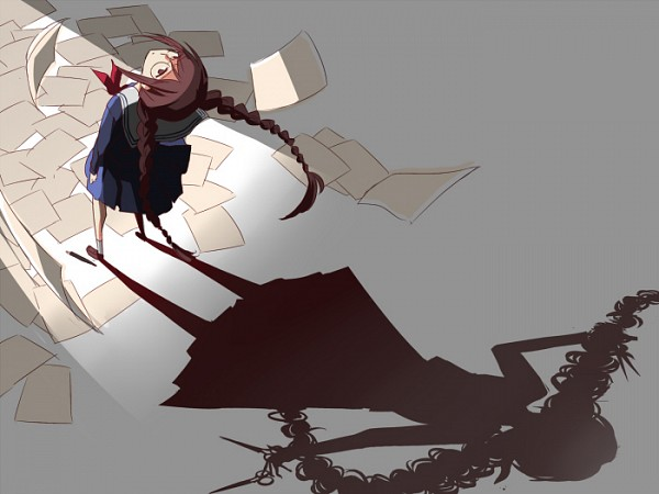 Tags: Anime, Pixiv Id 4827003, Danganronpa, Fukawa Touko, Scissors, Different Reflection, Different Shadow