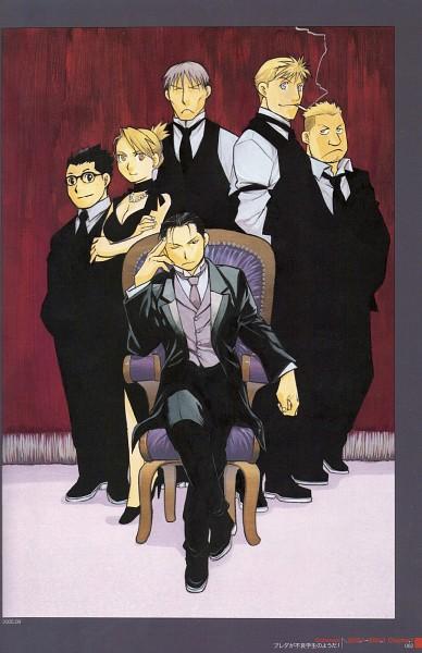 Tags: Anime, Arakawa Hiromu, Fullmetal Alchemist, Jean Havoc, Vato Falman, Roy Mustang, Kain Fuery