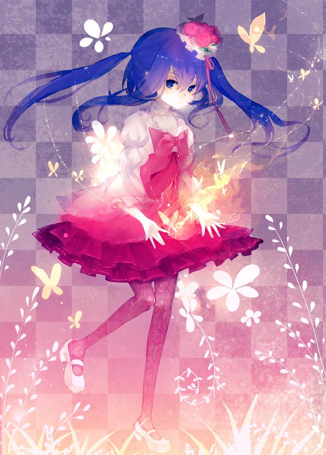Tags: Anime, Colxy, 07th Expansion, Umineko no Naku Koro ni, Furudo Erika, Glowing Hair, Fanart, Mobile Wallpaper, Pixiv