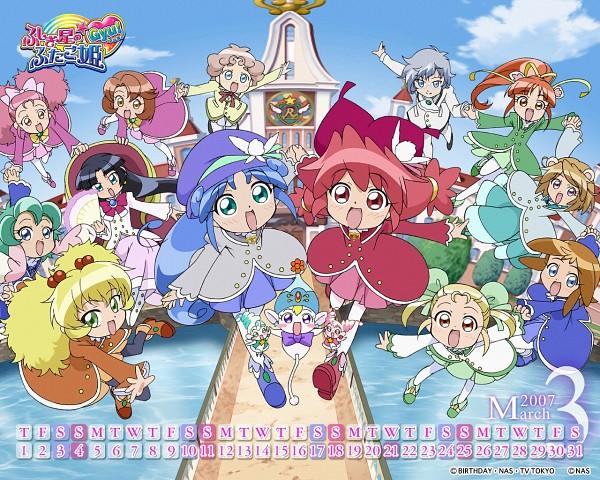 Tags: Anime, Fairy, Sisters, Fushigiboshi no☆Futagohime, Rein, Fine, Flying