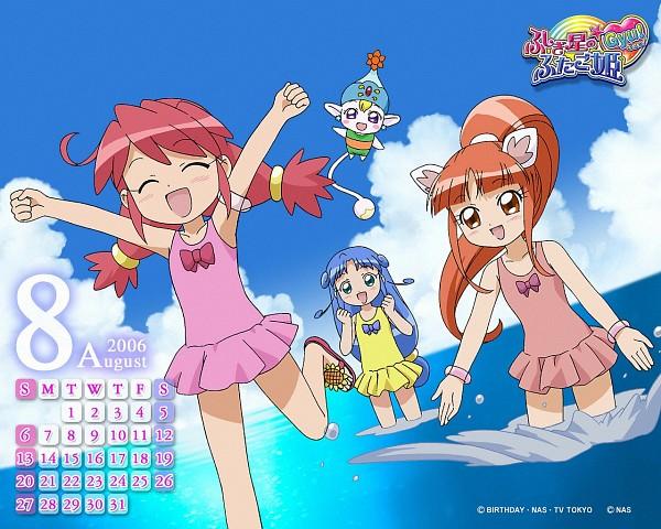 Tags: Anime, Ocean, Sisters, Fushigiboshi no☆Futagohime, Rein, Fine, Flying