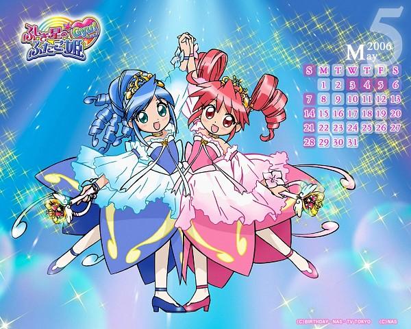 Tags: Anime, Pink Dress, Wand, Pink Outfit, Sisters, Fushigiboshi no☆Futagohime, Rein