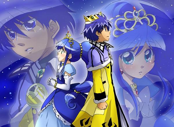 Tags: Anime, Princess, Fushigiboshi no☆Futagohime, Rein, Prince, Gown, Back To Back