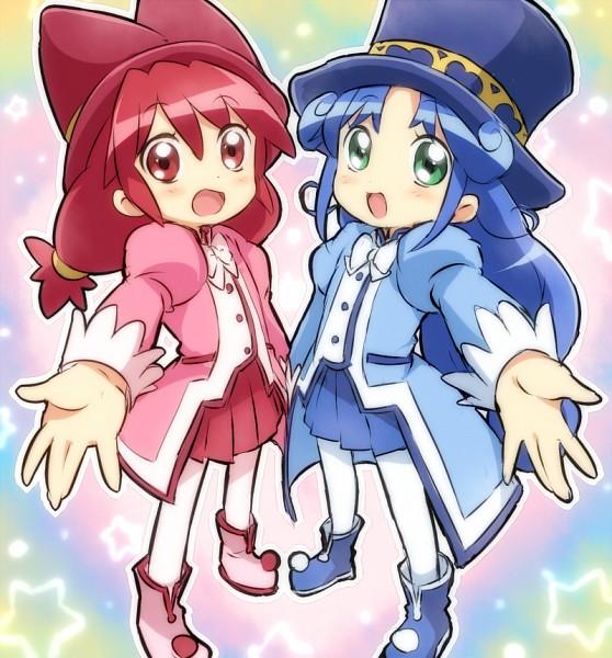 Tags: Anime, Sisters, Fushigiboshi no☆Futagohime, Rein, Fine, Hold Out Hand, Top Hat