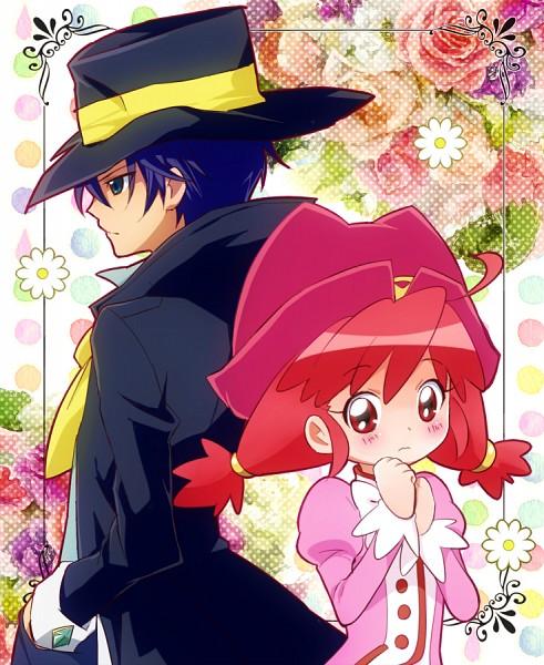 Tags: Anime, Pink Dress, Pink Outfit, Fushigiboshi no☆Futagohime, Fine, Back To Back, Shade (futagohime)