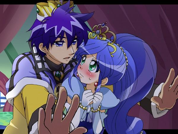 Tags: Anime, Curtain, Princess, Beads, Sweatdrop, Embarrassed, Fushigiboshi no☆Futagohime