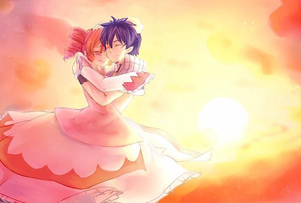 Tags: Anime, Sunset, Red Dress, Princess, Red Outfit, Fushigiboshi no☆Futagohime, Fine