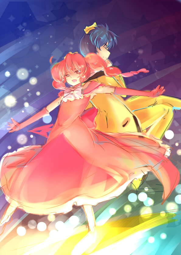 Tags: Anime, Red Dress, Princess, Red Outfit, Fushigiboshi no☆Futagohime, Fine, Prince