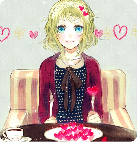 Tags: Anime, vient, VOCALOID, GUMI, Coffee