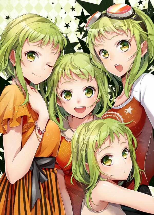 Tags: Anime, Yuzuki Kihiro, VOCALOID, GUMI, Mobile Wallpaper