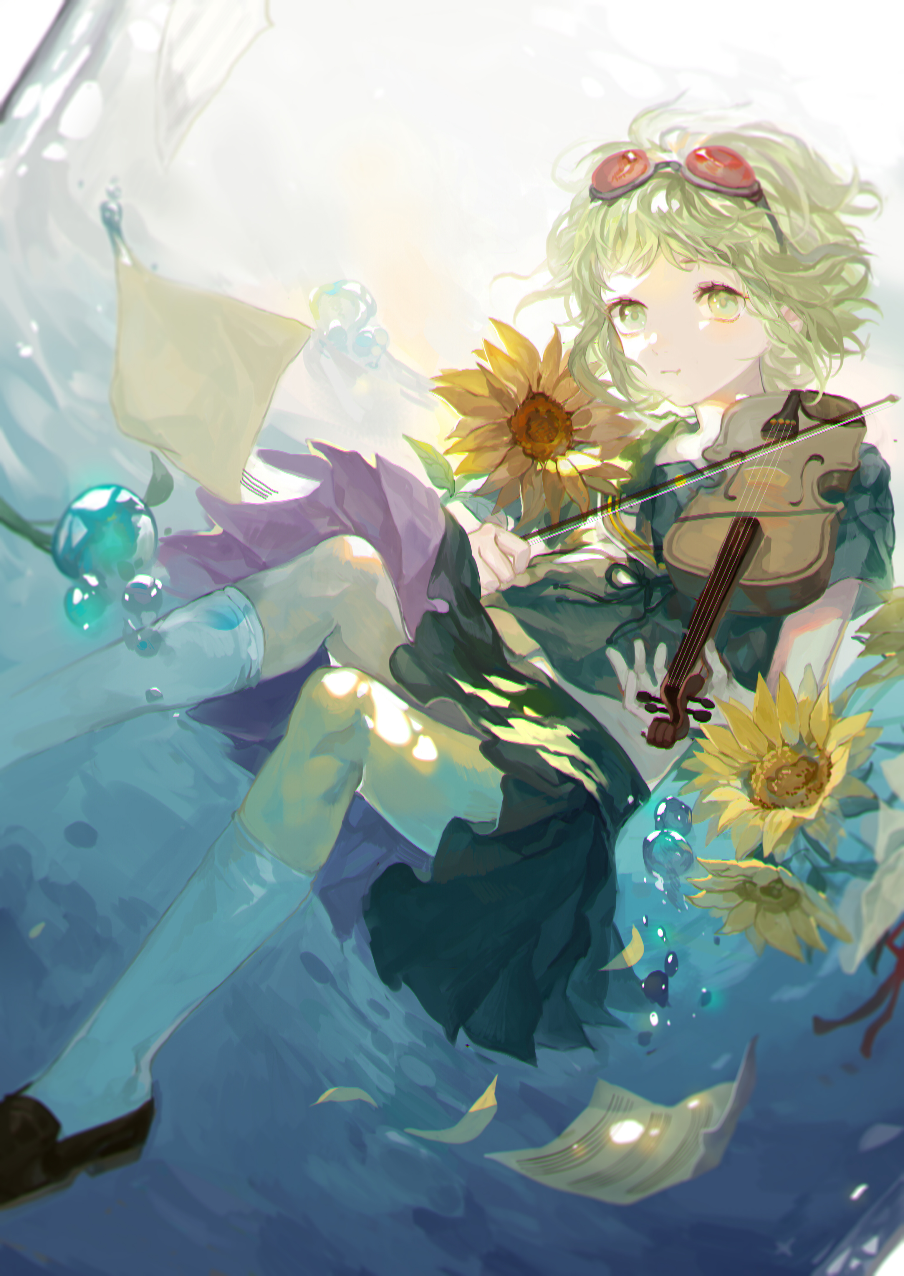 Tags Anime Pixiv Id 4766904 VOCALOID GUMI Sheet Music Holding