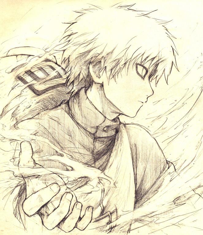 Tags: Anime, Togetsuhou, NARUTO, Gaara, Traditional Media, Pixiv, Fanart, Jinchuuriki