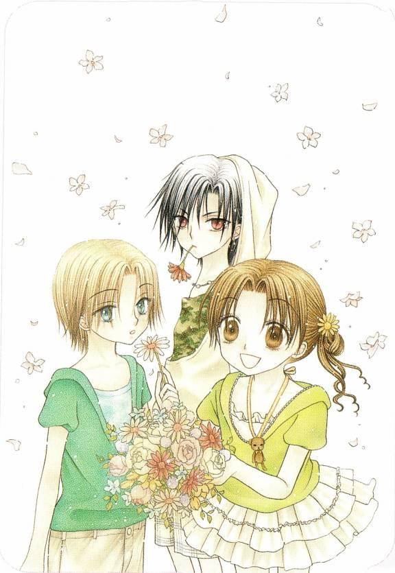 Tags: Anime, Higuchi Tachibana, Gakuen Alice, Nogi Ruka, Hyuuga Natsume, Sakura Mikan, Mobile Wallpaper, Official Art