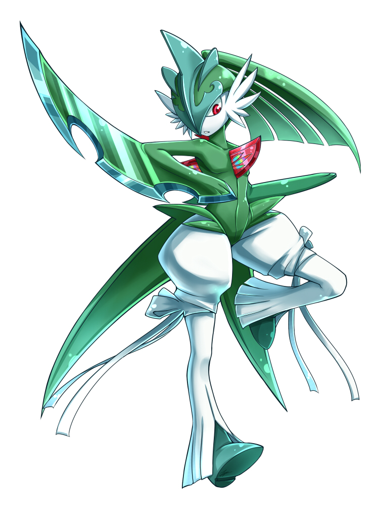how to draw gallade pixel art