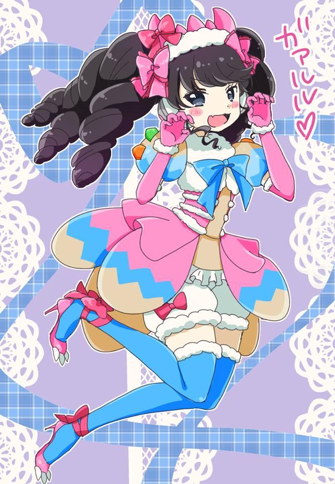 Tags: Anime, PriPara, Garuru, Pink Outerwear, Cinza Eyes, Yellow, White Shorts, Green
