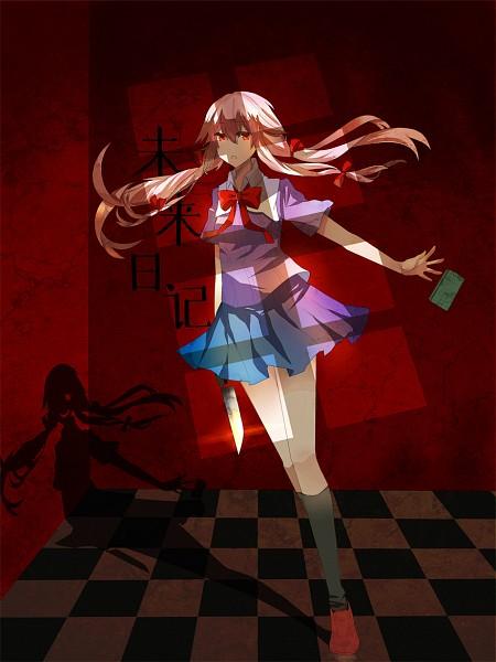 Tags: Anime, Yoisy, Mirai Nikki, Gasai Yuno, Yandere, Cellphone, Shadow