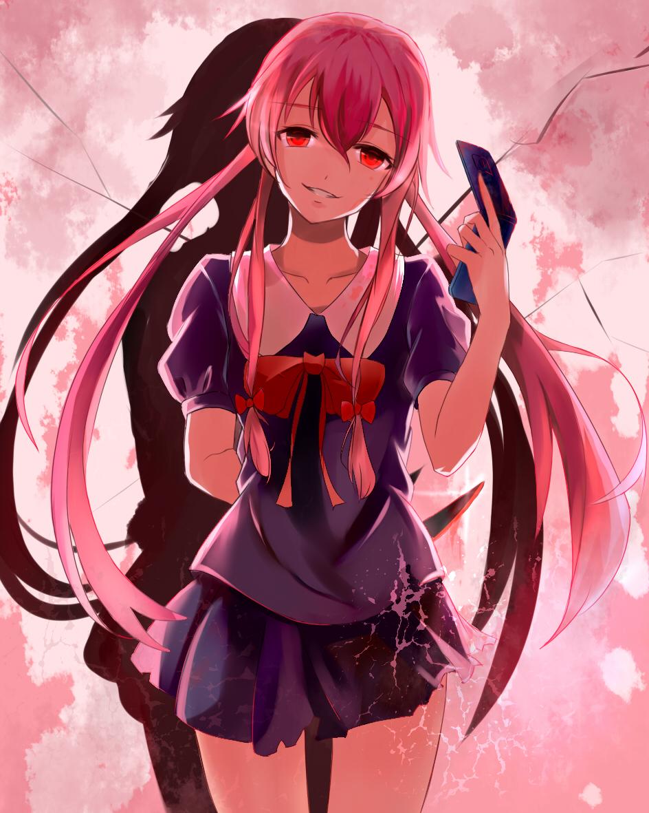 Gasai Yuno Mirai Nikki Mobile Wallpaper 2644789 Zerochan Anime Image Board
