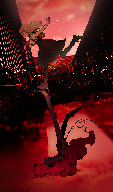 Tags: Anime, Pixiv Id 1628805, Gatchaman Crowds, Ichinose Hajime, Berg-Katze, Different Reflection, Mobile Wallpaper, Pixiv