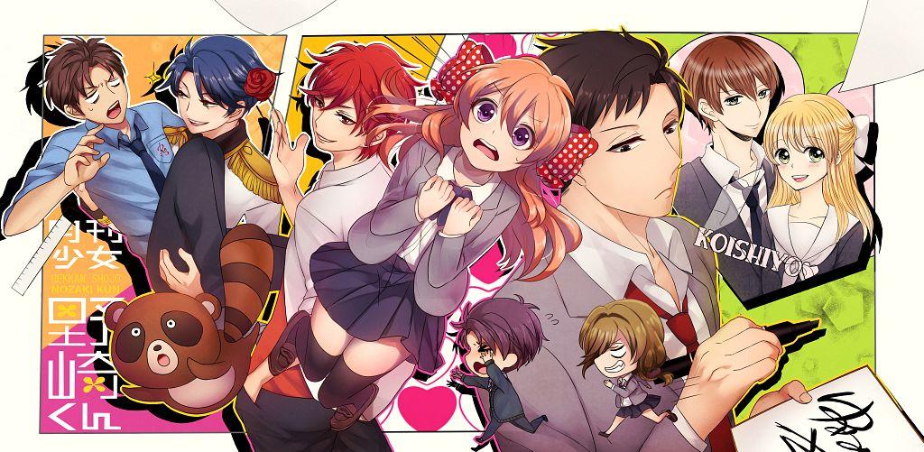 Tags: Anime, Pixiv Id 1136294, Gekkan Shoujo Nozaki-kun, Nozaki Umetarou, Wakamatsu Hirotaka, Suzuki Saburou, Hori Masayuki