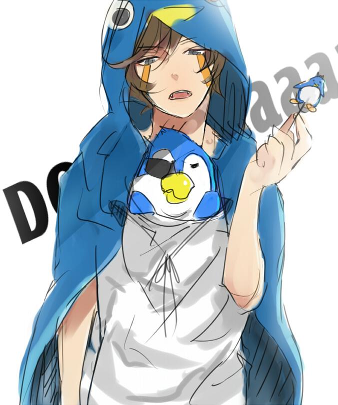 Tags: Anime, Pixiv Id 2910479, Inazuma Eleven, Genda Koujirou, Penguin Outfit, Pixiv, Fanart