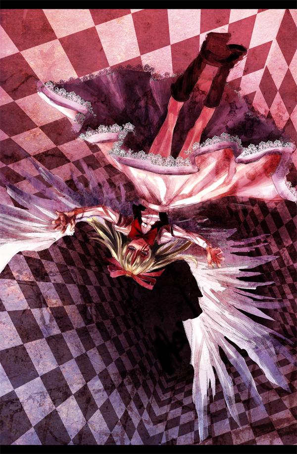 Tags: Anime, Lastdark, Touhou, Gengetsu, Mobile Wallpaper, PC-98 Touhou Era