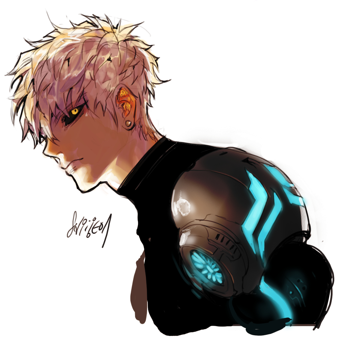 Genos One Punch Man Zerochan Anime Image Board