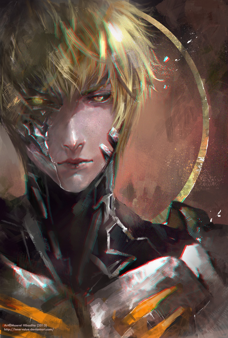 Genos One Punch Man Mobile Wallpaper Zerochan Anime Image Board