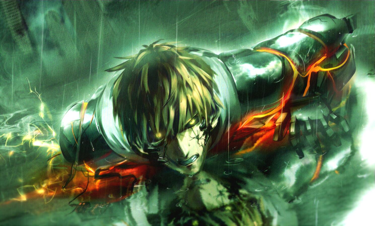 Genos One Punch Man Zerochan Anime Image Board