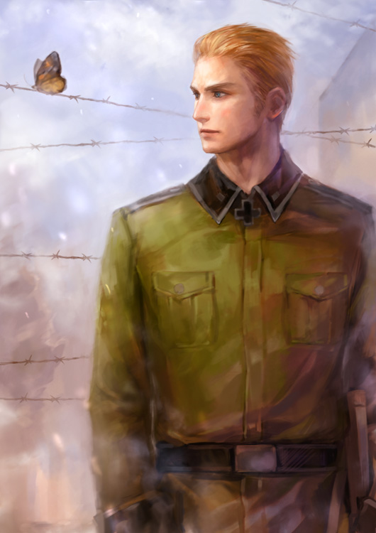 Tags: Anime, Erico Lotus, Axis Powers: Hetalia, Germany, Barbed Wire, Pixiv, Mobile Wallpaper, Fanart From Pixiv, Fanart