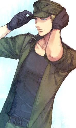 Tags: Anime, Pixiv Id 1345015, Axis Powers: Hetalia, Germany, Open Jacket, Cap, Hand on Hat