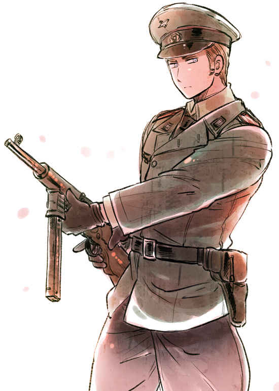 Tags: Anime, Himaruya Hidekaz, Axis Powers: Hetalia, Call of Duty, Germany, Smg, Mobile Wallpaper, Official Art, Axis Power Countries, Germanic Countries