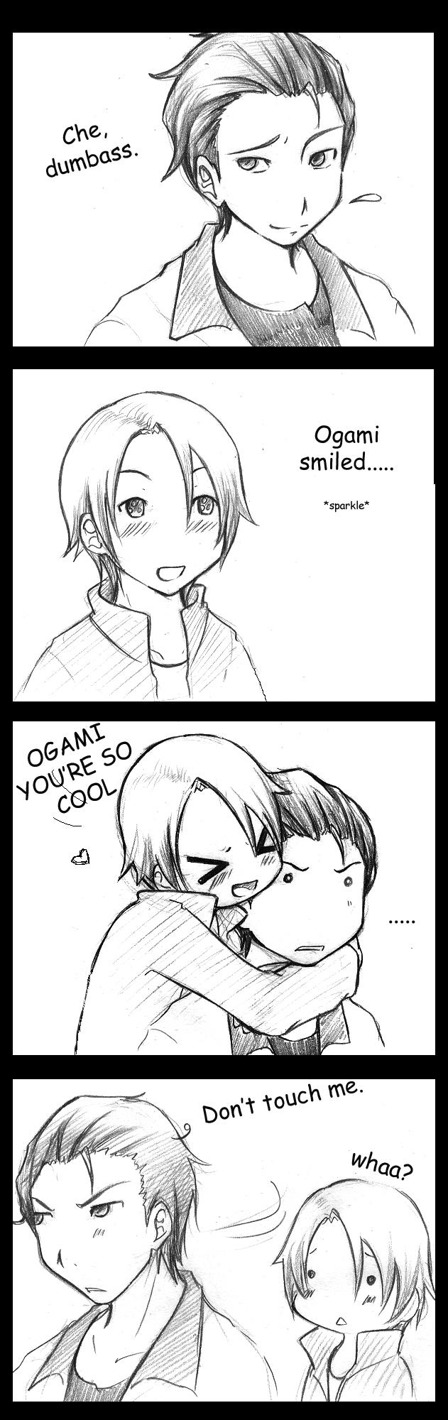 Tags: Anime, Ghost Hound, Oogami Makoto, Nakajima Masayuki, >w<
