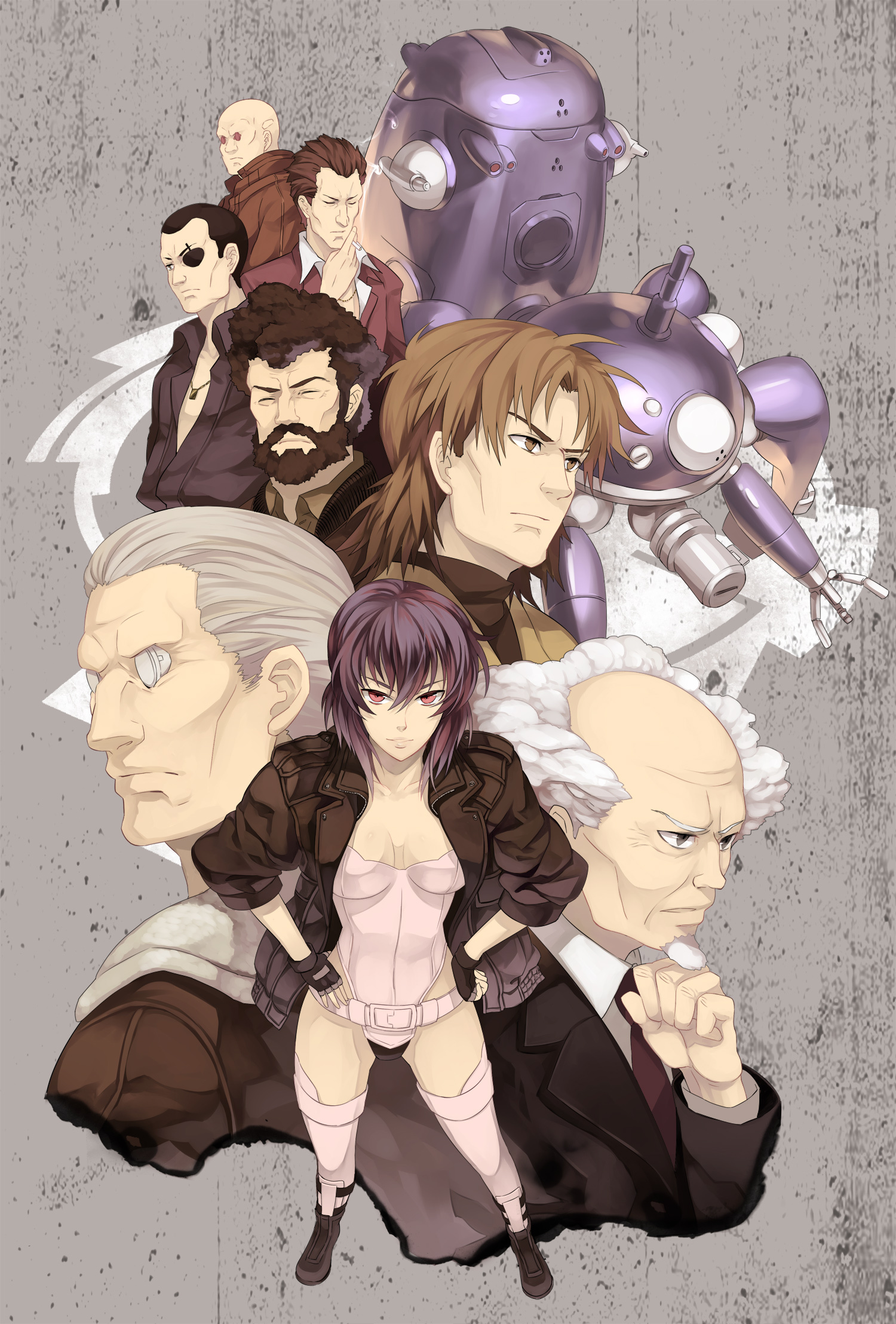 Batou Ghost In The Shell Koukaku Kidoutai Ghost In The Shell Zerochan Anime Image Board