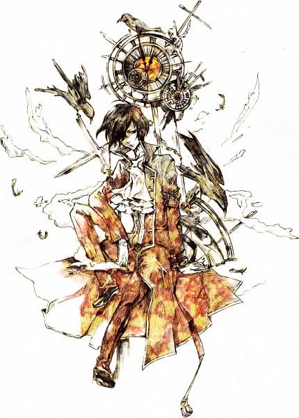 Tags: Anime, Pixiv Id 754738, SQUARE ENIX, Pandora Hearts, Gilbert Nightray, Crow, Clock