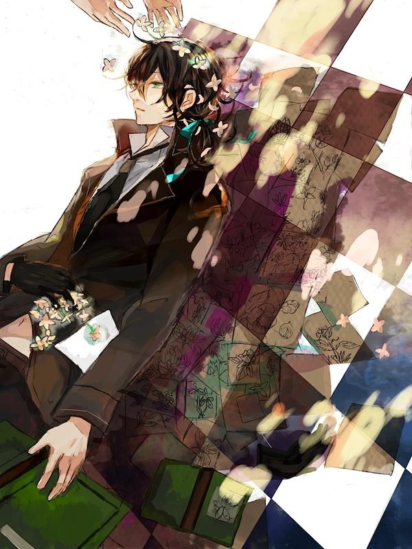 Tags: Anime, Mana Mannha, Pandora Hearts, Gilbert Nightray, Drawing (Object), Fanart, Pixiv