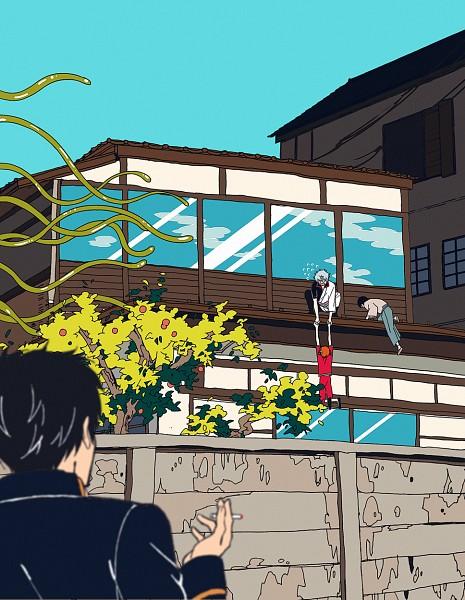 Tags: Anime, Pixiv Id 14791009, Gin Tama, Kagura (Gin Tama), Shimura Shinpachi, Hijikata Toushirou, Sakata Gintoki